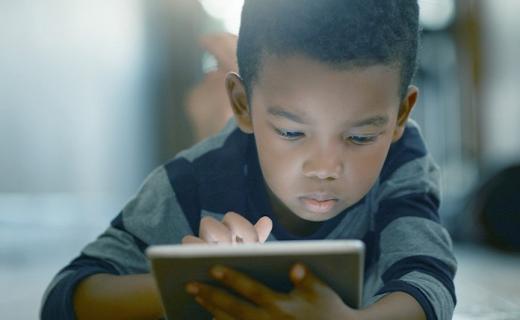 Boy on tablet