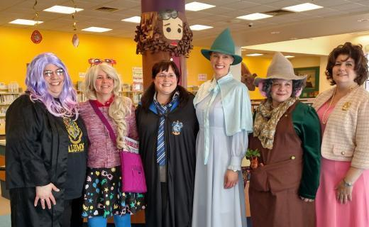 Children's Staff dressed in Harry Potter Characters costumes