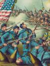 Print of a Civil War Battle
