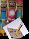 Paper towel roll nutcracker and cardboard dreidel crafts
