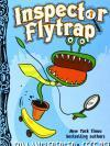 Cover of book by Tom Angleberger. Large Cartoon Venus Flytrap riding a skateboard